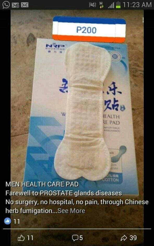Men Health care pad